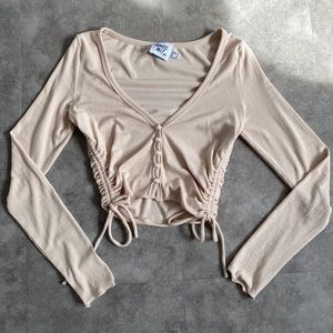 Princess Polly bridgeton top in beige